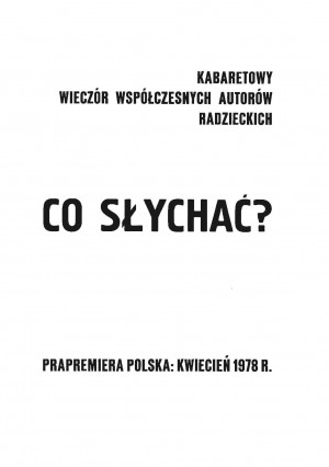 CO SŁYCHAĆ