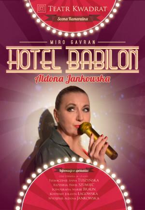 Hotel Babilon- plakat ze spektaklu z obsadą